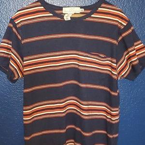 H&M Stripped Orange and Blue Shirt